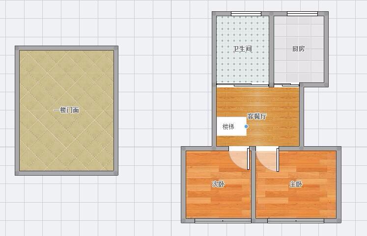 德宽路正街一层40平门面证+66平二层住宅 80万